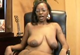 Office babe takes the cock job